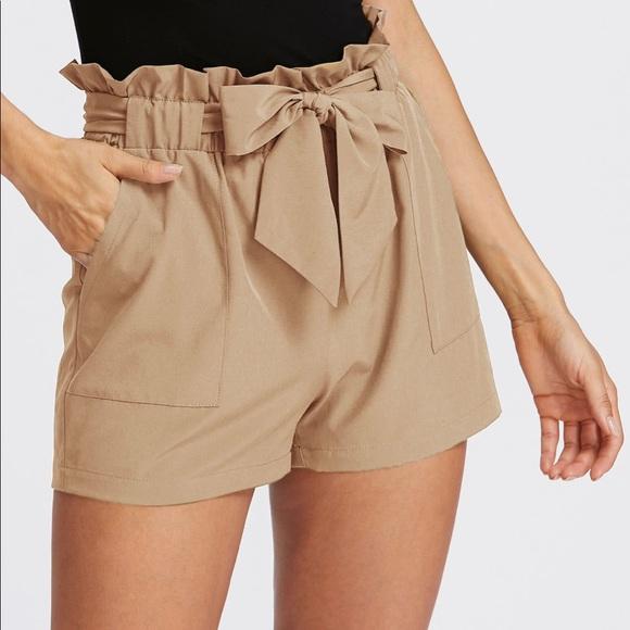 efec746645 SHEIN Shorts | Self Tie Ruffle Waist Sz Xs | Poshmark